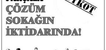 SEÇİM SANDIĞI DEVRİMCİLERİN TABUTUDUR..